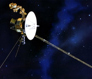 Voyager I - o primeiro objeto criado pelo homem a deixar o Sistema Solar (Foto: Reprodução/ NASA)