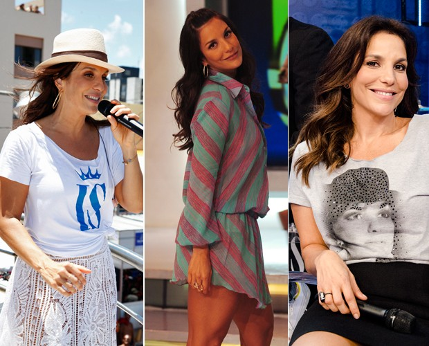 Ivete com roupas leves e figurino prático para enfrentar os shows  (Foto: Divulgação / TV  Globo/ João Miguel Júnior / Ellen Soares)