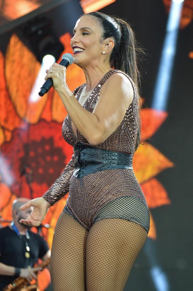 Ivete Sangalo se apresenta em Goiânia (Foto: AG News)