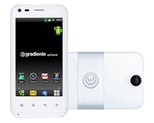 Smartphone chamado 'iPhone', da Gradiente, tem tela de 3,7 polegadas (Foto: Divulgação)