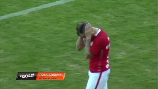 """D'Ale bola! Meia do Inter cobra falta de forma bizarra e lance leva """"garrancho"""""""