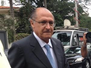 Alckmin chega ao velório de Ruy Mesquita (Foto: Natjália Duarte/G1)