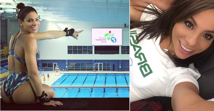 Ingrid Oliveira Saltos Ornamentais Pan Toronto Fluminense (Foto: Reprodução / Instagram)