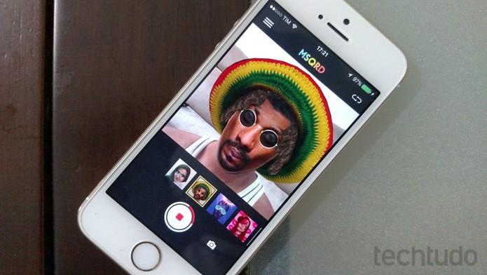 Aprenda a usar os filtros do MSQRD no iPhone ou iPad (Foto: Lucas Mendes/TechTudo)