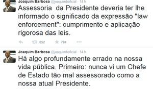 Joaquim Barbosa defende delação e diz que Dilma é mal assessorada