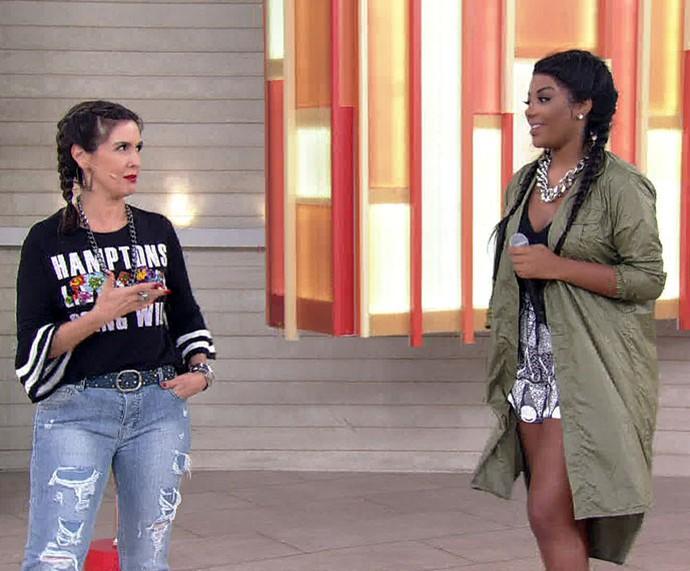 Fátima e Ludmilla: estilosas  (Foto: TV Globo)