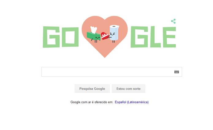 Doodle de São Valentim: romance entre guardanapo e papel-toalha? (Foto: Reprodução)