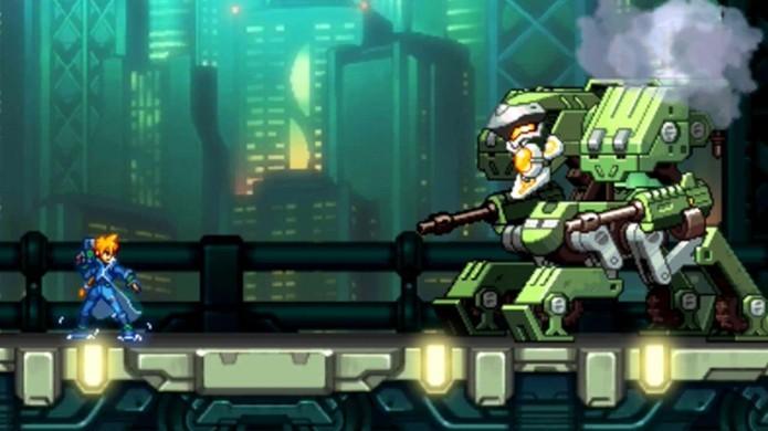 Chefões, Desafios e campanha longa garantem a diversão em Azure Striker Gunvolt (Foto: Reprodução/Gamespot)