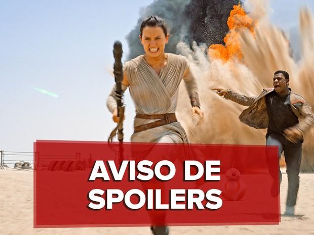 Rey e Finn fogem dos spoilers de 'Star Wars: o despertar da Força' (Foto: Divulgação)