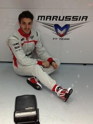 Jules Bianchi substituiu Luiz Razia na Marussia (Foto: Divulgação)