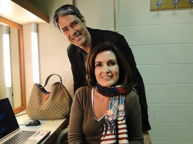 Bonner visita a mulher na primeira semana de programa (Foto: TV Globo / Encontro com Fátima Bernardes)