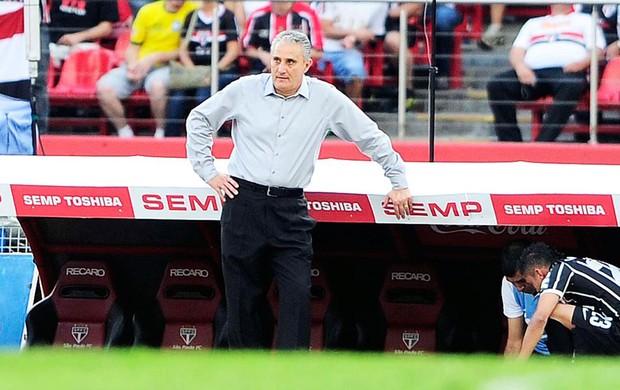 Tite jogo Corinthians e São Paulo (Foto: Marcos Ribolli / Globoesporte.com)
