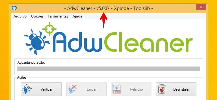 Verificando a versão do AdwCleaner em seu computador (Foto: Reprodução/Helito Bijora)