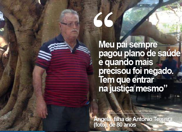 Antônio Teixeira, teve a portabilidade negada aos 80 anos e conseguiu liminar para migrar de plano de saúde (Foto: Arquivo pessoal/G1)