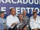 Alckmin inaugura novo atracadouro da travessia Bertioga-Guarujá, SP