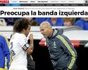 Jornal: Zidane está preocupado com  a marcação e pode adiantar Marcelo