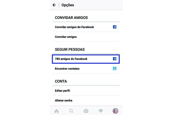 Clique nos amigos do Facebook para ver quem está no Instagram (Reprodução/Carol Danelli) (Foto: Clique nos amigos do Facebook para ver quem está no Instagram (Reprodução/Carol Danelli))