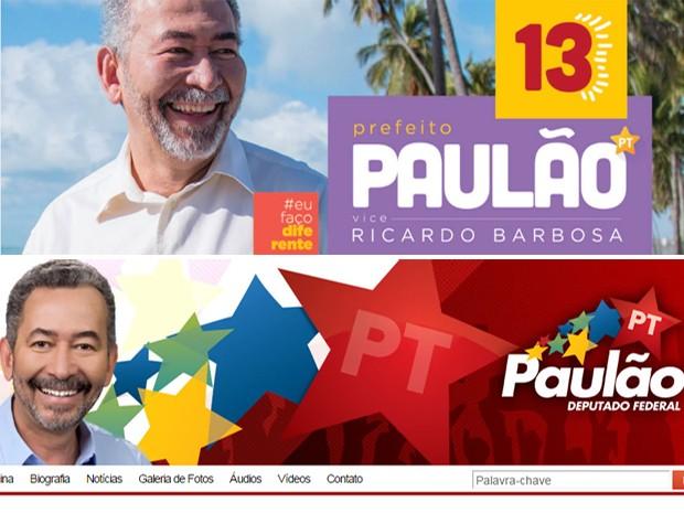 Antes e depois: Paulão muda tons e diminui estrela (Foto: Reprodução)