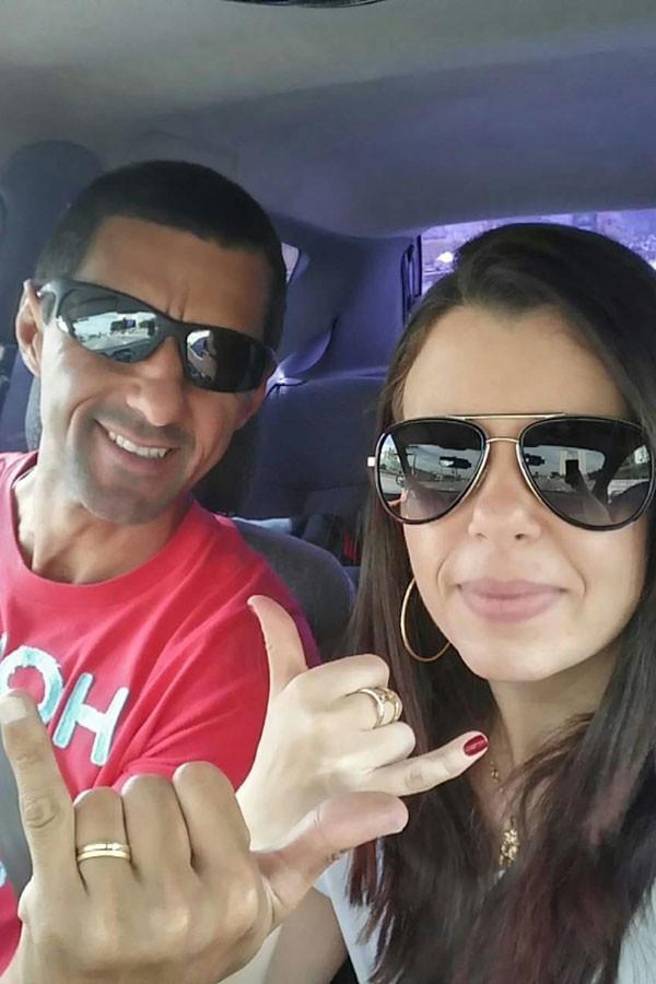 Gabriela e o marido Edson Rodrigues dos Santos (Foto: Arquivo pessoal)