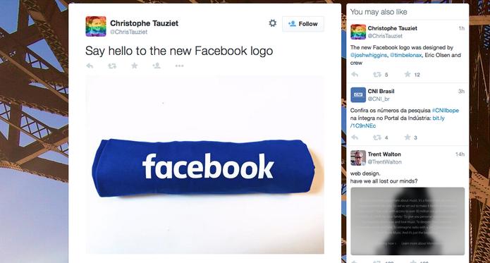 Facebook 'joga a toalha' e muda visual de logo antigo, que permanecia há dez anos (Foto: Reprodução/Twitter)