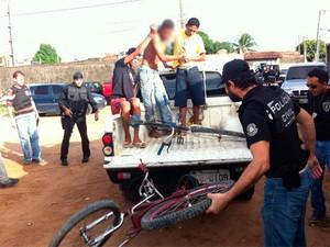 Primeiras prisões da operação PC27 no RN ocorreram em Parnamirim (Foto: Matheus Magalhães/G1)