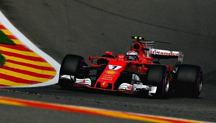 Kimi Raikkonen na Bélgica
