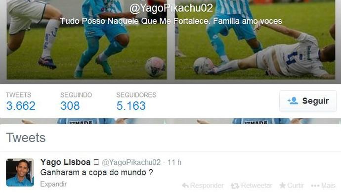 Pikachu brinca após a classificação do maior rival na Copa Verde (Foto: Reprodução/Twitter)