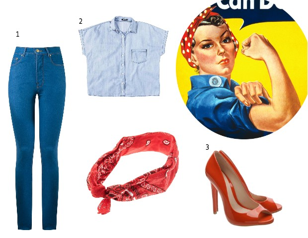 1. Jeans, Amapô, R$365 2. Camisa jeans, Hering, R$129 3. Escarpin, Schutz, R$360 (Foto: Divulgação)