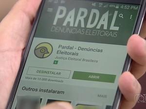 App Pardal Denúncias Eleitorais permite que população denuncie crimes ao TRE-GO Goiânia Goiás (Foto: Reprodução/TV Anhanguera)