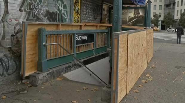 Furacão Sandy transforma Nova York em 'cidade fantasma' (Foto: BBC)