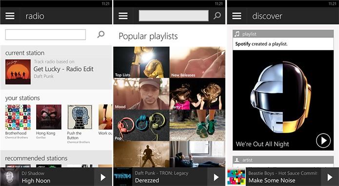 Spotify é o novo serviço de músicas que chegou ao Brasil e está disponível para o Windows Phone (Foto: Divulgação/Windows Phone Store)