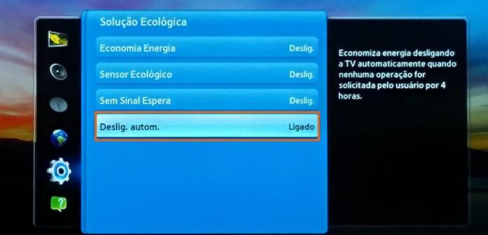 Configure a TV para desligar automaticamente quando não tiver ação do usuário (Foto: Reprodução/Barbara Mannara)