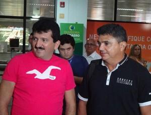 Flávio Araújo e Albany Pontes (Foto: GLOBOESPORTE.COM)