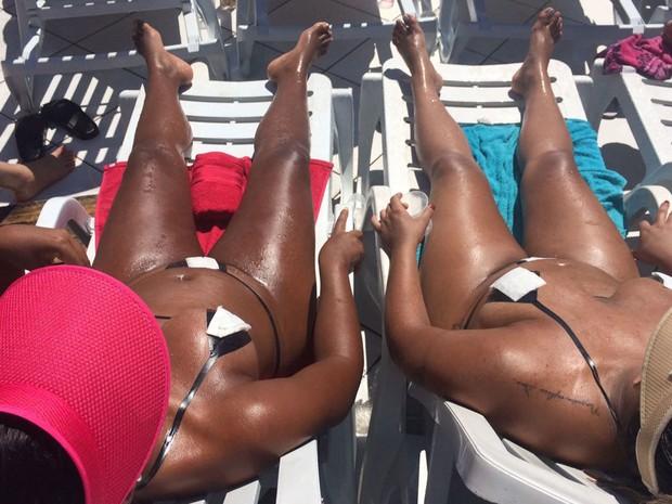 ba0594274 G1 - Mulheres trocam praia por laje e usam fita isolante para ...