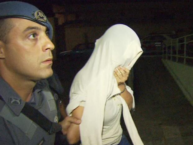 Kátia Marques foi presa em Ribeirão Preto, SP, na terça-feira (1º) (Foto: Fábio Júnior/EPTV)