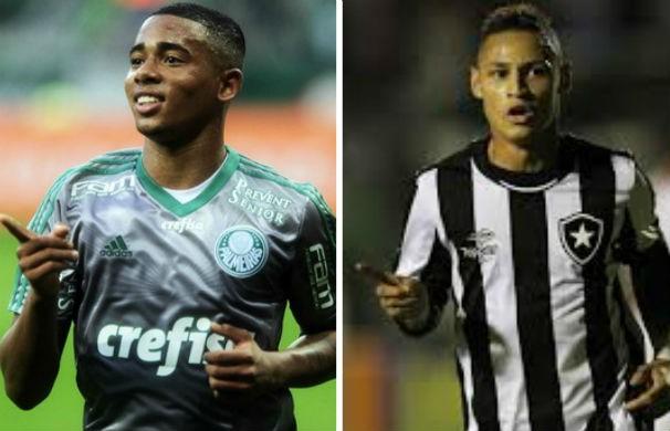 Palmeiras enfrenta o Botafogo e pode ser campeão ainda na 36ª rodada (Foto: montagem/GE)
