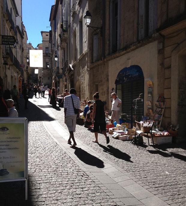 Rue de l'Université, próxima à Universidade de Montpellier, é um dos pontos mais badalados da cidade (Foto: Mariana Zanon)