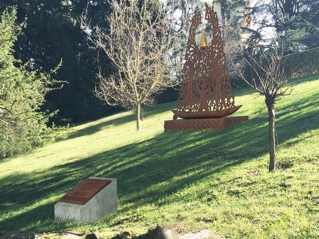 Monumento dedicado à Nossa Senhora Aparecida no Vaticano (Foto: Divulgação/Arquidiocese de Aparecida)