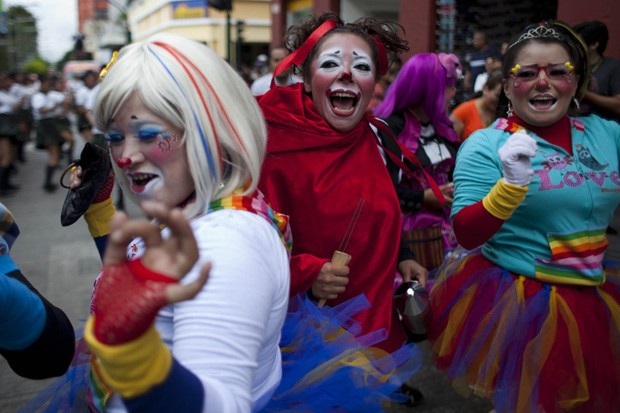 Sexta edição do Congresso de Palhaços da América Latina ocorreu na Guatemala (Foto: Moises Castillo/AP)
