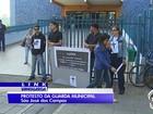 Guardas municipais protestam após morte de servidor em São José, SP