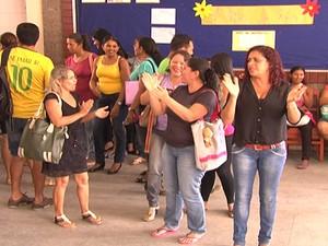 manifestação Parfor, em Santarém (Foto: Reprodução/TV Tapajós)