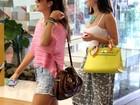 Fernanda Paes Leme e Giovanna Lancellotti almoçam juntas