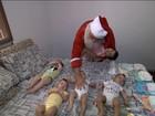 Casal pede que Papai Noel tome conta de cinco bebês gêmeos em SP