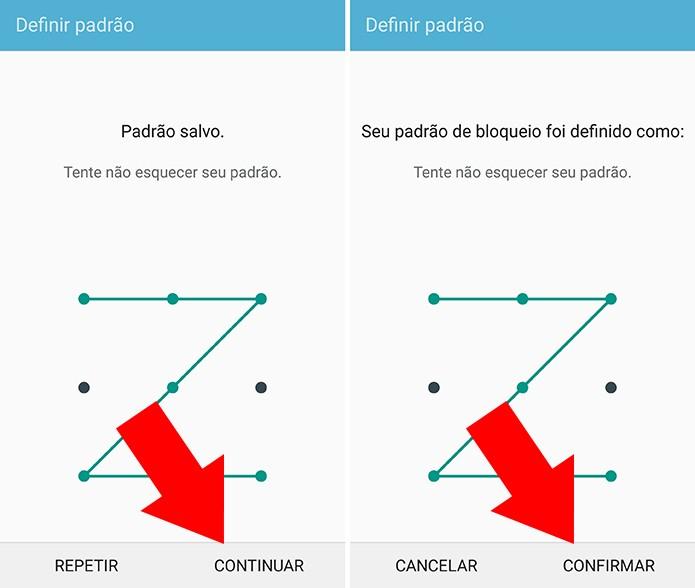 Configure uma senha ou padrão secundários (Foto: Reprodução/Paulo Alves)