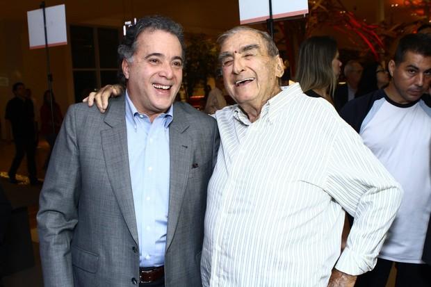 Tony Ramos e Elias Gleizer (Foto: Raphael Mesquita / FotoRioNews)