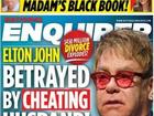 Elton John foi traído pelo marido, David Furnish, diz revista