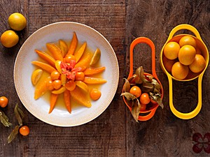Salada amarelo kinkan (Foto: Luis Simione/Cozinha da Matilde)