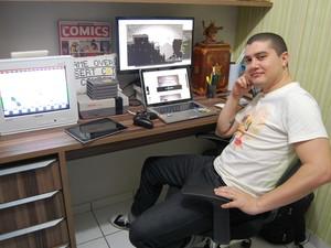 Rodrigo Motta é um dos componentes do Game Developers Association Paraíba (GDA), grupo formado por empresas de toda a Paraíba. (Foto: Ligia Coeli)