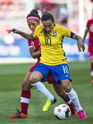 Marta Brasil x Canadá (Foto: AP)