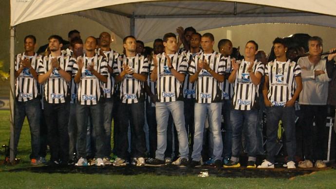 Apresentação elenco Treze (Foto: Silas Batista / GloboEsporte.com/pb)